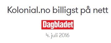 kolonial Dagbladet Din Totalleverandør AS